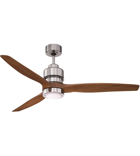 Craftmade K11256 Sonnet 52 inch Chrome with Walnut Blades Ceiling Fan Kit in 52