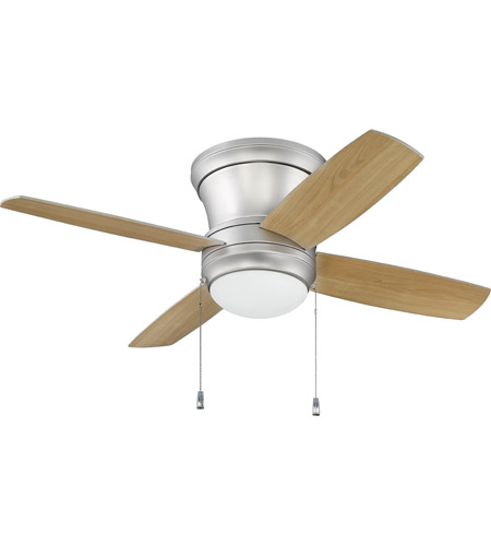altus hugger ceiling fan reviews fans lights without brushed pewter silver maple blades