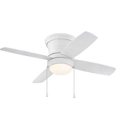 Craftmade LAVH52MWW4 Laval 52 inch Matte White with Reversible Matte White Blades Hugger Ceiling Fan, Blades Included photo
