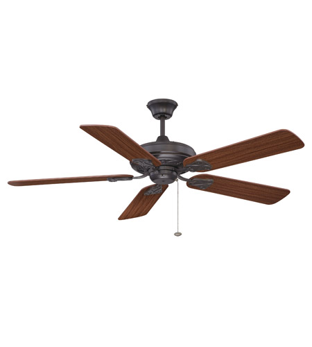 Craftmade MAJ52ABZ5 Majestic 52 inch Aged Bronze Brushed with Reversible Dark Oak and Mahogany Blades Ceiling Fan in 0, Light Kit Sold Separately, Blades Included photo