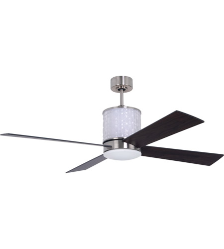 Craftmade MAR52BNK4 Marissa 52 inch Brushed Polished Nickel with Reversible Walnut and Flat Black Blades Ceiling Fan in Brushed Nickel, Blades Included photo