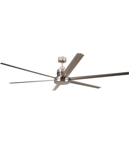 Craftmade MND72BNK6 Mondo 72 inch Brushed Polished Nickel with Brushed Nickel Blades Ceiling Fan, Blades Included photo
