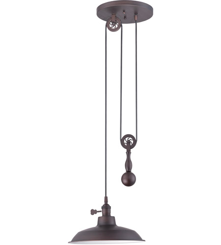Craftmade P400 Abz Signature 1 Light 12 Inch Aged Bronze Pulley