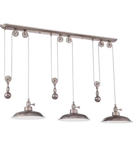 Craftmade p403 ts signature 3 light 12 inch tarnished silver pulley craftmade p403 ts signature 3 light 12 inch tarnished silver pulley pendant ceiling light canopy dimensions 475 width from front to back 48 length mozeypictures Choice Image