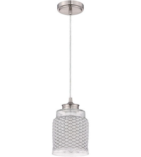 Craftmade P460BNK1 Signature 1 Light 6 inch Brushed Nickel Mini Pendant Ceiling Light in Clear Glass photo