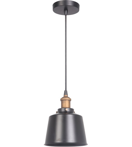 Craftmade P760MBKPAB1 Signature 1 Light 7 inch Matte Black and Patina Aged Brass Mini Pendant Ceiling Light photo