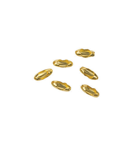 Craftmade PCC-BB Signature Bright Brass Bead Chain Connectors in Burnished Brass photo