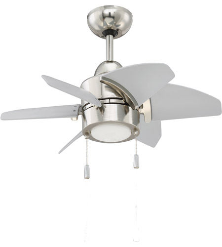 Craftmade ppl24pln6 propel 24 inch polished nickel with brushed craftmade ppl24pln6 propel 24 inch polished nickel with brushed nickel blades ceiling fan blades included aloadofball Images