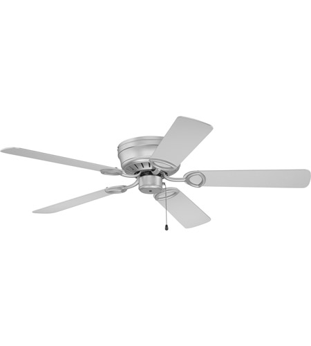 Craftmade K10197 Pro Universal 52 inch Brushed Satin Nickel with Brushed Nickel Blades Hugger Ceiling Fan Kit in Light Kit Sold Separately, Contractor Brushed Nickel, Blades Included photo thumbnail