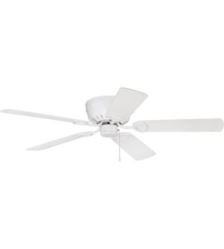 Craftmade K11244 Pro Universal 52 Inch White Hugger Ceiling Fan Kit In Contractor Plus Light Sold Separately Blades Included
