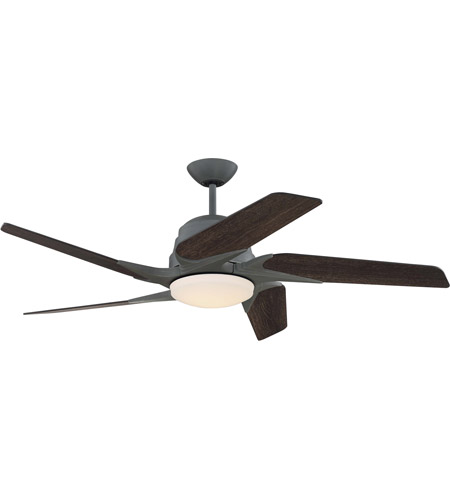 Craftmade SOE54AGV5 Solo Encore 54 inch Aged Galvanized with Rustic Oak Blades Ceiling Fan  photo