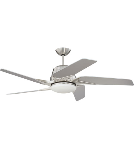 Craftmade SOE54BNK5 Solo Encore 54 inch Brushed Polished Nickel with Brushed Nickel Blades Ceiling Fan in Silver photo