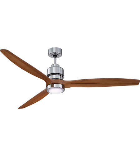 Craftmade SON52CH-60LOK Sonnet 60 inch Chrome with Light Oak Blades Ceiling Fan Kit photo