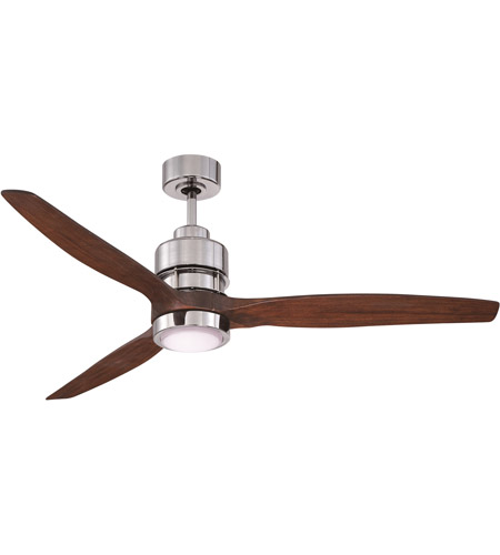 Craftmade SON52CH-60WAL Sonnet 60 inch Chrome with Walnut Blades Ceiling Fan Kit photo
