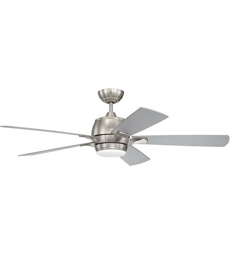 Craftmade STE52BNK5-UCI Stellar 52 inch Brushed Polished Nickel with Reversible Brushed Nickel and Maple Blades Ceiling Fan, Blades Included photo