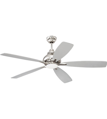 Craftmade Swy52pln5 Swyft 52 Inch Polished Nickel With Reversible Brushed And Grey Wood Blades Ceiling