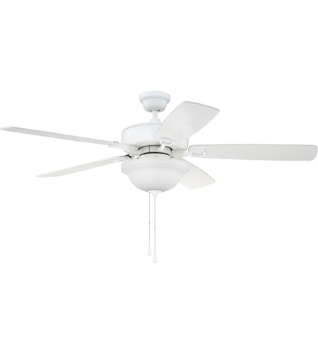 Craftmade TCE52W5C1 Twist N Click 52 inch White with Reversible White and Whitewash Blades Ceiling Fan, Blades Included photo