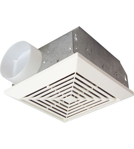 Signature 6 inch white bathroom exhaust fan in 70 cfm for 7 bathroom exhaust fan