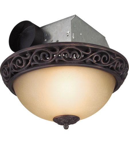 Decorative Oil Rubbed Bronze Bath Exhaust Fan, with Light