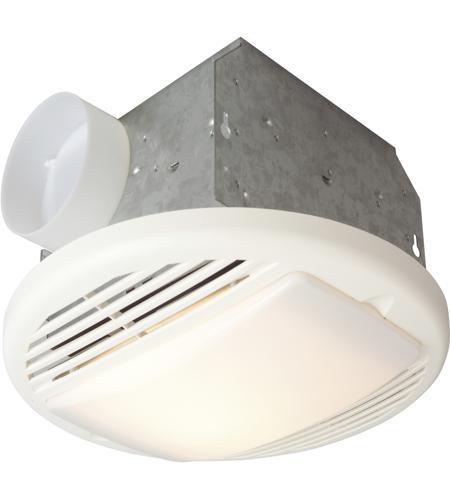 Signature 12 Inch White Bathroom Exhaust Fan Light In 70 Cfm