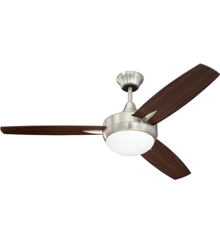 Craftmade tg48bnk3 targas 48 inch brushed polished nickel with craftmade tg48bnk3 targas 48 inch brushed polished nickel with reversible walnut and dark oak blades ceiling fan blades included aloadofball Images