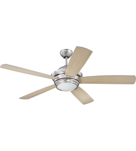 Craftmade TMP52BNK5 Tempo 52 inch Brushed Polished Nickel with Reversible Silver and Maple Blades Ceiling Fan, Blades Included photo