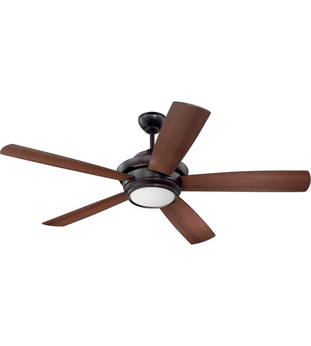 Craftmade TMP52OB5 Tempo 52 inch Oiled Bronze with Reversible Oiled Bronze and Walnut Blades Ceiling Fan, Blades Included photo