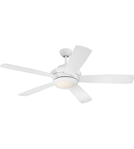 Craftmade TMP52W5 Tempo 52 inch White with Reversible White Blades Ceiling Fan, Blades Included photo