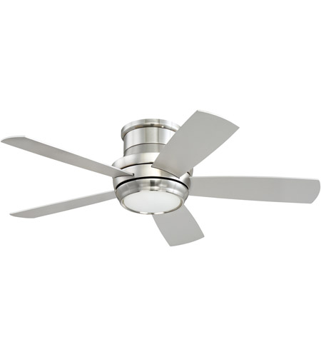 Craftmade TMPH44BNK5 Tempo 44 inch Brushed Polished Nickel with Reversible Silver and Maple Blades Hugger Ceiling Fan, Blades Included photo