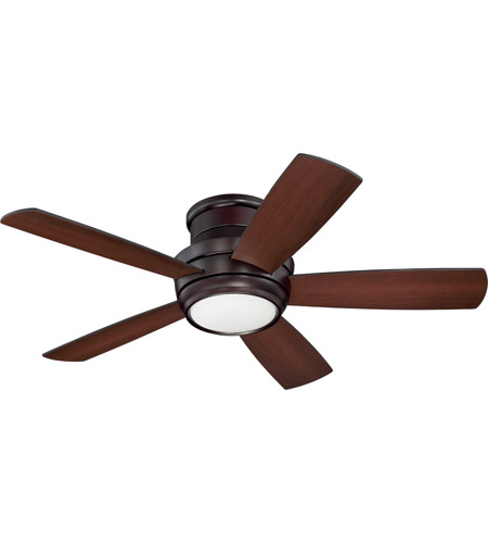 Craftmade tmph44ob5 tempo 44 inch oiled bronze with reversible craftmade tmph44ob5 tempo 44 inch oiled bronze with reversible walnut and matte black blades hugger ceiling fan blades included aloadofball Choice Image