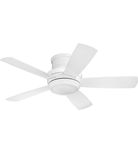 Craftmade TMPH44W5 Tempo 44 inch White with Reversible White Blades Hugger Ceiling Fan, Blades Included photo