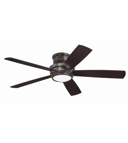Craftmade TMPH52OB5 Tempo 52 inch Oiled Bronze with Reversible Walnut and Matte Black Blades Hugger Ceiling Fan photo