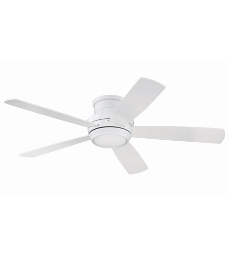 Craftmade TMPH52W5 Tempo 52 inch White with Reversible White Blades Hugger Ceiling Fan, Blades Included photo