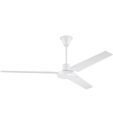 Craftmade Ut56ww3m Utility 56 Inch White With Metal Blades Ceiling Fan Included