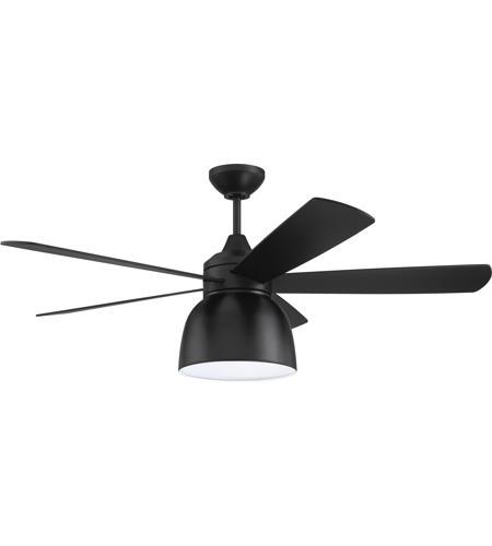 Craftmade Ven52fb5 Ventura 52 Inch Flat Black Indoor Outdoor Ceiling Fan