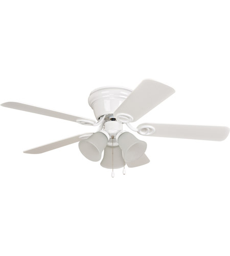 Craftmade Wc42ww5c3f Wyman 42 Inch White With Reversible And Washed Blades Ceiling Fan In 3 Matte Included