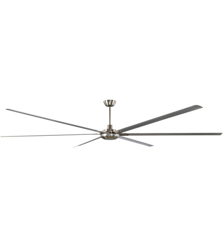 Craftmade WND120BNK6 Windswept 120 inch Brushed Polished Nickel Indoor/Outdoor Ceiling Fan photo