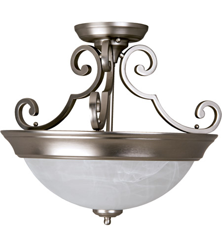 Craftmade X224-BN Signature 2 Light 17 inch Brushed Satin Nickel Semi-Flushmount Ceiling Light in Brushed Nickel photo