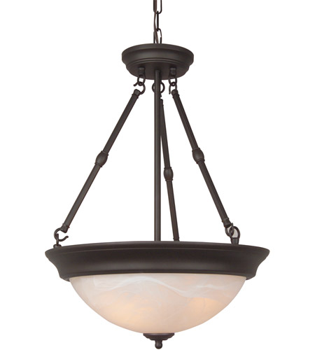 Craftmade X225-OB Jeremiah 3 Light 15 inch Oiled Bronze Convertible Semi Flush Ceiling Light photo