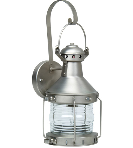 Brushed Nickel Nautical Outdoor Wall Lights