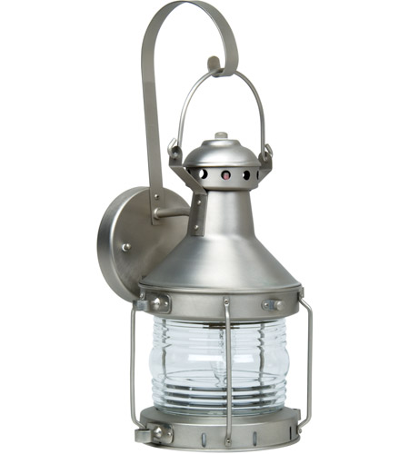 Craftmade Z114-BN Nautical 1 Light 18 inch Brushed Satin Nickel Outdoor Wall Lantern, Large photo