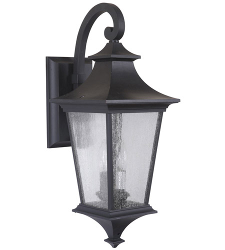 Craftmade Z1364-MN Argent II 2 Light 21 inch Midnight Outdoor Wall Lantern in Incandescent, Medium photo