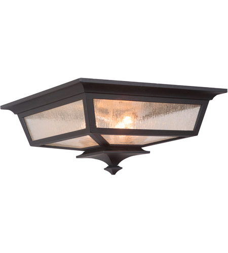 Craftmade Z1367-MN Argent II 3 Light 14 inch Midnight Outdoor Flushmount, Large photo