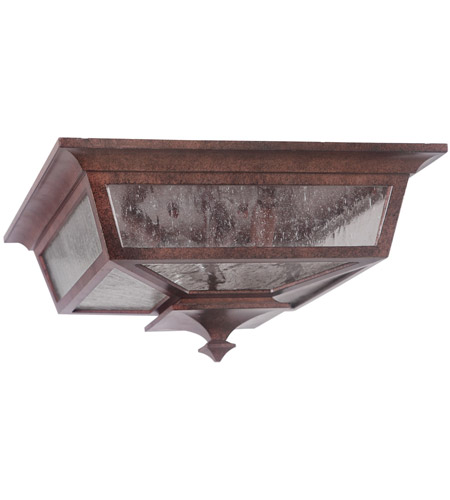 Craftmade Z1367-AG Argent II 3 Light 14 inch Aged Bronze Textured Outdoor Flushmount, Large photo
