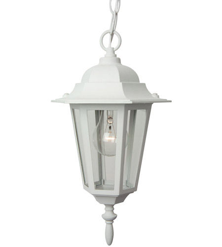 Textured White Aluminum Outdoor Pendants