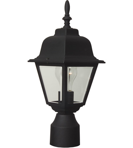 Coach Lights 1 Light 16 Inch Textured Matte Black Outdoor Post Small