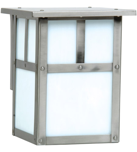 Craftmade Z1842-SS Mission 1 Light 8 inch Stainless Steel Outdoor Wall Lantern, Small photo