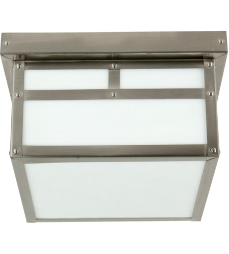 Craftmade Z1843-SS Mission 1 Light 10 inch Stainless Steel Outdoor Flushmount in Frosted, Small photo