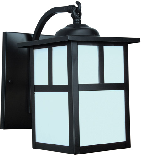 Mission 1 Light 10 Inch Burnished Copper Outdoor Wall Lantern In Frosted Small