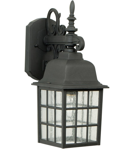 Craftmade Z270-TB Grid Cage 1 Light 15 inch Textured Matte Black Outdoor Wall Lantern, Medium photo